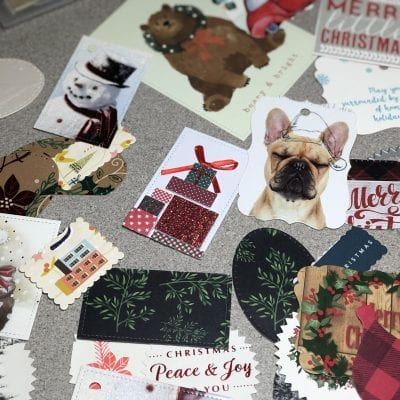 How to Recycle Christmas Cards into Gift Tags