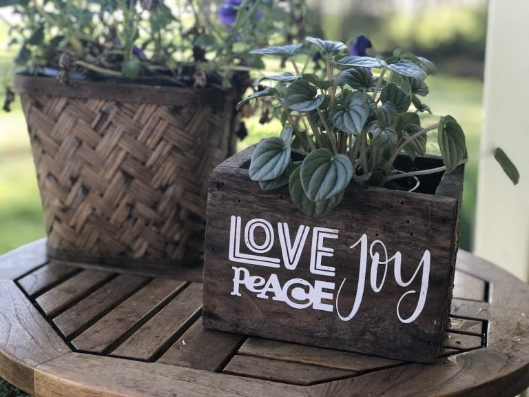 Upcycled Wooden Planter Box