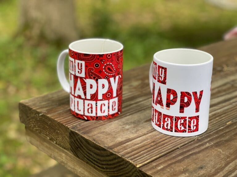 """""""My Happy Place"""" Infusible Ink Mugs"""