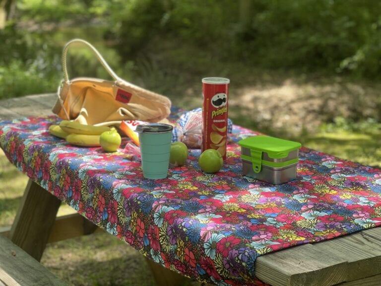 Easy DIY No Fly Away Picnic Tablecloth