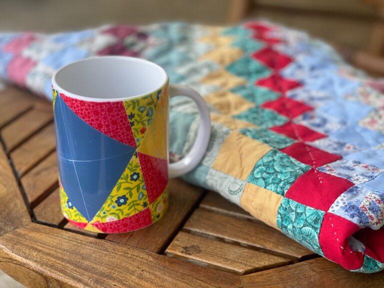 Patchwork Quilt Cricut Mug Press Idea