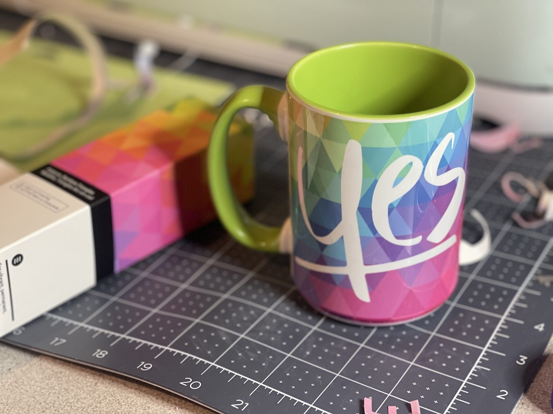 Yes!  He Did! Cricut Mug Press Idea