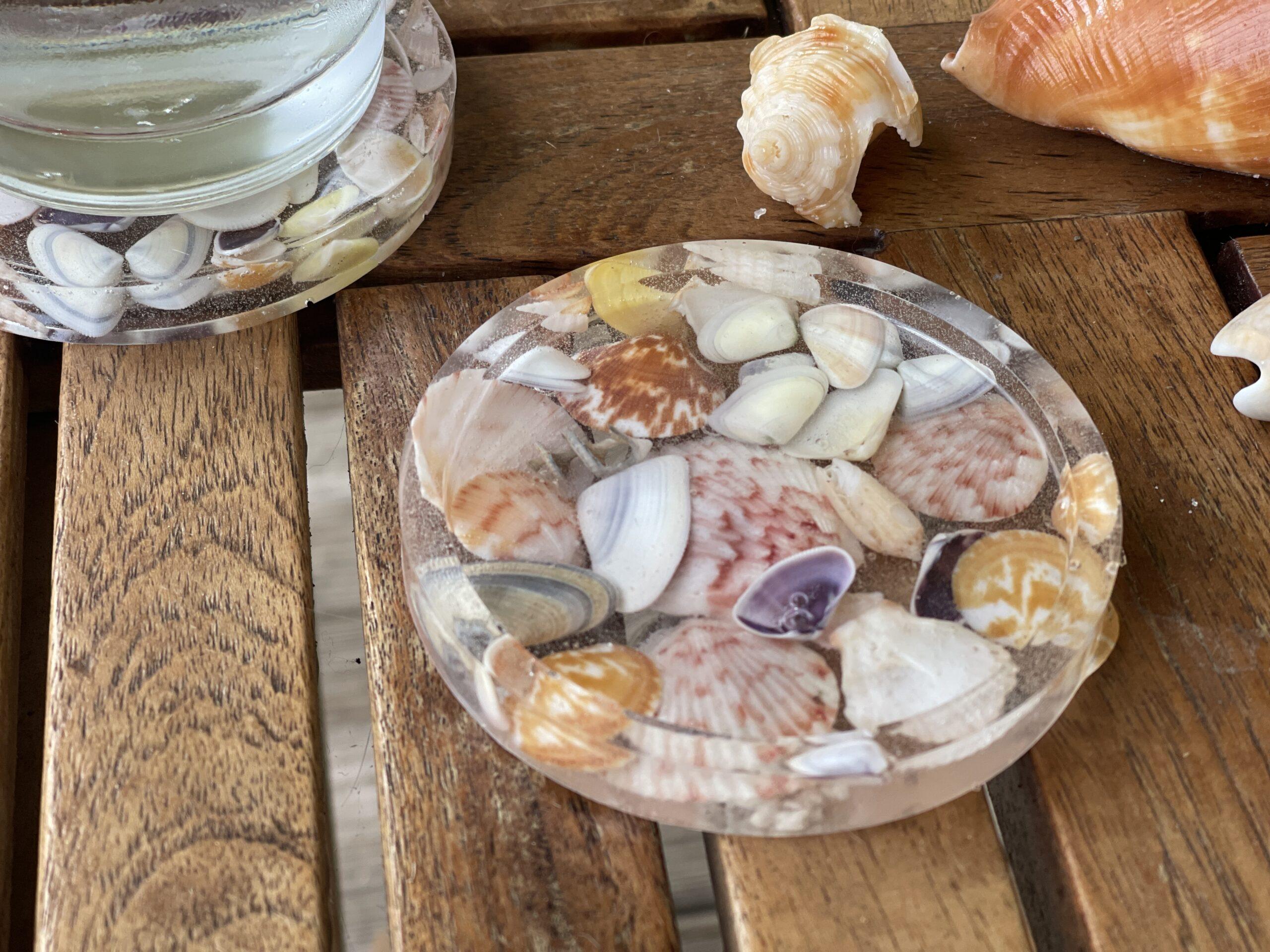 How to Make Resin Seashell Coasters